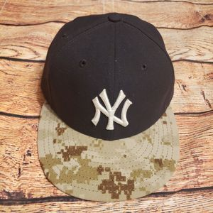 New York Yankees Fitted Camo Hat